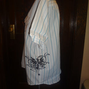 Pineapple Connection striped ink blot shirt Large